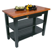 Le Classique Work Table, Varnique, with 2 Shelves, 48'' W, Various Sizes Available