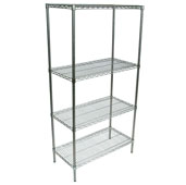Wire Shelf Only 48'' W x 18'' D, Chrome-Plated
