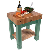 American Heritage Butlers Block , 30'' x 24'' x 5'' thick top, Basil