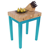 Chef Block, 30'' W x 24'' D x 36'' H, 4'' Thick, Caribbean Blue