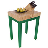 Chef Block, 30'' W x 24'' D x 36'' H, 4'' Thick, Clover Green