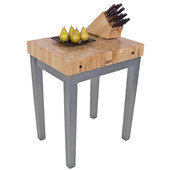 Chef Block, 30'' W x 24'' D x 36'' H, 4'' Thick, Slate Gray
