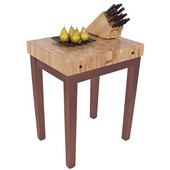 Chef Block, 30'' W x 24'' D x 36'' H, 4'' Thick, Walnut Stain