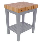 Chef Block with Shelf, 30'' W x 24'' D x 36''H, 4'' Thick, Slate Gray
