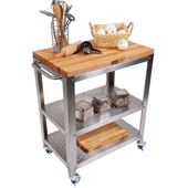 Cucina Culinarte Kitchen Cart w/ Removable Maple Top, 30'' W x 18-1/8'' D x 36-5/16''H