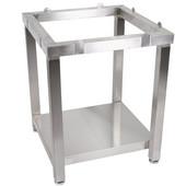 Cucina Laforza Butcher Block Cart, S/S Frame Only, 24'' W x 24'' D x 29''H