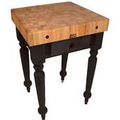 30'' W Cucina Rustica Kitchen Cart Work Table, Black