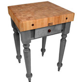 30'' W Cucina Rustica Kitchen Cart Work Table, Slate Gray