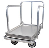 Sheet Pan Dolly with Handle 19'' W x 27'' D in Aluminum