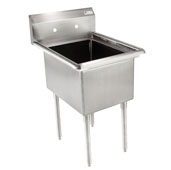 E-Series Compartment Single Bowl Sink 24'' W x 24'' D x 14'' Bowl Depth with No Drainboard, 18-Gauge Stainless Steel