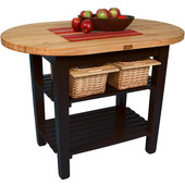 Elliptical C-Table, Black, Multiple Sizes Available with No Shelf, or 1 or 2 Shelves