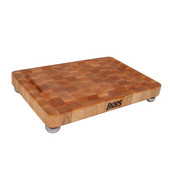 Rectangular Maple Cutting Board With Stainless Steel Feet, 18'' W x 12'' D x 1-3/4'' H