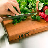 R-Board Collection Cutting Board, 18'' W x 12'' D x 1-1/2'' Thick, Cherry Wood