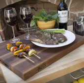 R-Board Collection Cutting Board, 24'' W x 18'' D x 1-1/2'' Thick, Walnut Wood