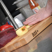 R-Board Collection Cutting Board, 18'' W x 12'' D x 1-1/2'' Thick, Maple Wood