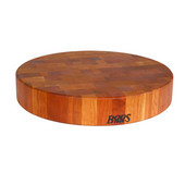 3'' Thick Round Chinese Chopping Block, American Cherry