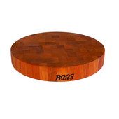 2-1/2'' Thick Round Chinese Chopping Block in American Cherry