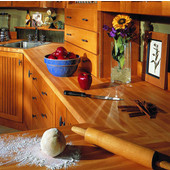 1-1/2'' Thick Hard Rock Maple Edge Grain Butcher Block Kitchen Countertop, Varnique Finish, Available in Multiple Widths