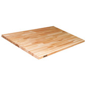 1-1/2'' Thick Hard Rock Maple Blended Butcher Block Kitchen Countertop, Varnique Finish, 121''W x 30''D