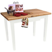Classic Country Worktable, 48'' or 60'' W x 36'' D x 35''H, Alabaster