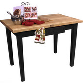 Classic Country Worktable, 48'' or 60'' W x 36'' D x 35''H, Black