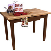 Classic Country Worktable, 48'' or 60'' W x 30'' D x 35''H, Cherry Stain