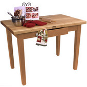 Classic Country Worktable, 48'' or 60'' W x 36'' D x 35''H, Natural Maple