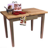Classic Country Worktable, 36'' W or 60'' W x 24'' D x 35''H, Useful Gray Stain