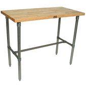 Cucina Classico Work Table with Maple Top, 48'' W, Different Depths & Heights Available