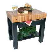Kitchen Work Table Homestead Block, 36'' W x 24'' D x 34''H, Black
