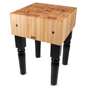 AB Block with 10'' Thick Hard Maple Top, Black, Numerous Sizes Available