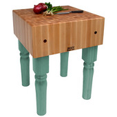 AB Block with 10'' Thick Hard Maple Top, Basil, Numerous Sizes Available
