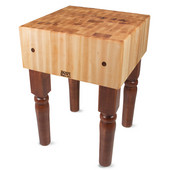 AB Block with 10'' Thick Hard Maple Top, Warm Cherry Stain, Numerous Sizes Available