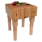 AB Block with 10'' Thick Hard Maple Top, Natural Maple, Numerous Sizes Available