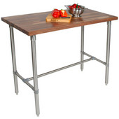 Cucina Classico Kitchen Island with Walnut End Grain Top, Available in Different Sizes