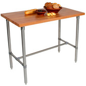 Cucina Classico Kitchen Island with Cherry End Grain Top, 48'' W, Available in Various Depths & Heights