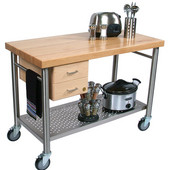 ''Cucina Magnifico'' Kitchen Cart with Dovetailed Drawers, 48'' W x 24'' D x 35''H