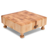 Square Chopping Block with Feet, Northern Hard Rock Maple End Grain, 12''W x 12''D x 3''H