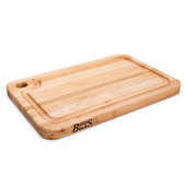 Prestige Cutting Board with Groove & Finger Grip Hole, Northern Hard Rock Maple Edge Grain, Reversible, 18''W x 12''D x 1-1/4''H
