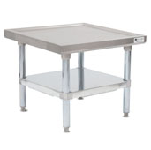 MS4-GSK Series 14-Gauge Stainless Steel Top Commercial Machine Stand 24'' W x 24'' D x 20'' H with Galvanized Legs and Adjustable Shelf, Knocked Down