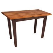 Oak Table Boos Block, 48'' W x 25'', 30'', or 36'' D x 35''H, French Roast