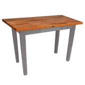 Oak Table Boos Block, 48'' W x 25'', 30'', or 36'' D x 35''H, Slate Gray