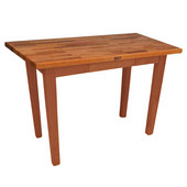 Oak Table Boos Block, 48'' W x 25'', 30'', or 36'' D x 35''H, Spicy Latte