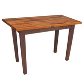 Oak Table Boos Block, 48'' W x 25'', 30'', or 36'' D x 35''H, Walnut Stain