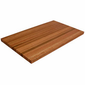 Ultra Premium 1-1/2'' Thick Appalachian Red Oak Edge Grain Butcher Block Island Countertop 121'' W x 32'' D, Varnique Finish