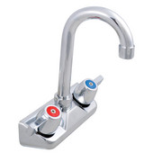 Pro Bowl Economy Hand Sink Wall Splashmount Faucet with 3-1/2'' Gooseneck Spout, 4'' On-Center Spread, Low Lead