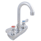 Pro Bowl Heavy Duty Wall Splashmount Faucet with Electronic Eye & 3-1/2'' Gooseneck Spout, 4'' On-Center Spread, Low Lead