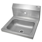 Pro Bowl Space Saver Wall Mount Hand Sink, Stainless Steel, 14''W x 10''D x 5''H Bowl
