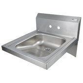 Pro Bowl Space Saver Wall Mount Hand Sink, Stainless Steel, 20''W x 24''D x 5''H Bowl