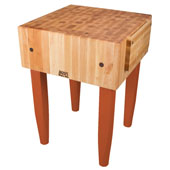 PCA Butcher Block with Knife Holder, Spicy Latte, Multiple Sizes Available